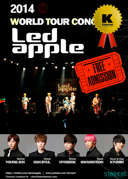 Kpopeurope's Christmas Present Give-Away: Winners of the Concert Tickets For LEDApple!