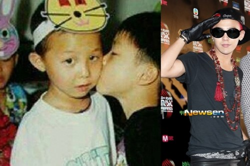 G-Dragon reveals a childhood photo getting kissed by…