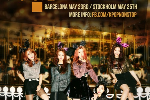 4minute the first girl group to hold solo showcase in Europe