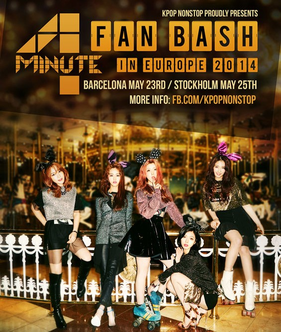 (All Languages) [en][de][fr][pl][sk] 4minute the first girl group to hold solo showcase in Europe