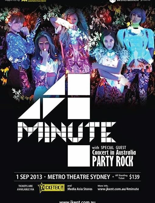 4MINUTE are poppin' right down under! Exclusive limited concert in Australia