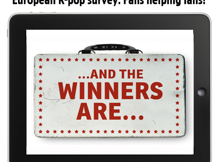 European K-pop survey: Fans helping fans! …and the winners are