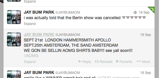 (All Languages) [en] Jay Park's Concert in Berlin Cancelled