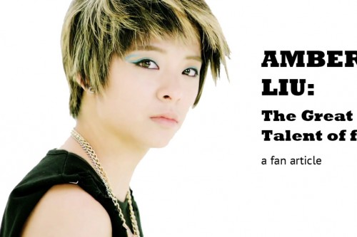 Les talents de Amber Liu des F(x) – Article d'un fan