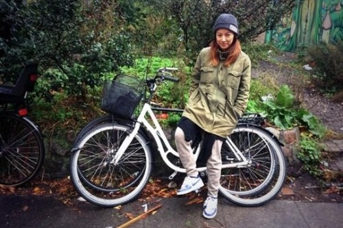 [en] Lee Hyori and Lee Sang Soon biking in Denmark
