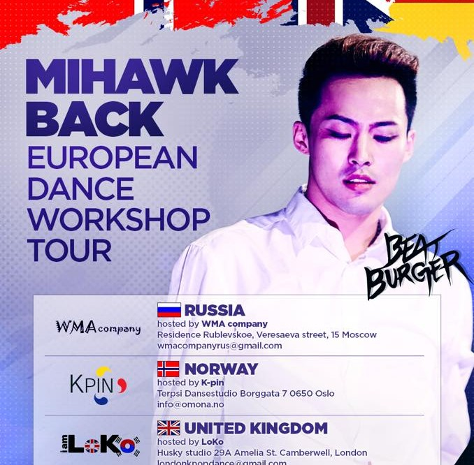 [en] K-Pop Choreographer Mihawk Back holds dance workshops in EUROPE!